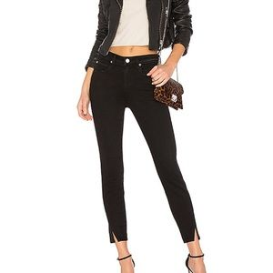 Amo High Rise Twist Black Magic Skinny Jeans